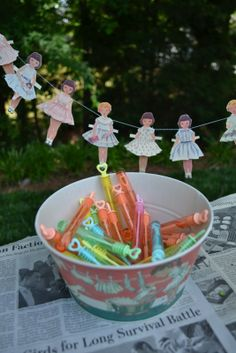 Paper Doll party from threepixielane.blog...
