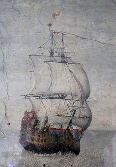 17th Century wall painting at The Jolly Sailor