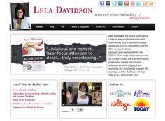 Lela Davidson's professional website/ designer: Tom Hapgood