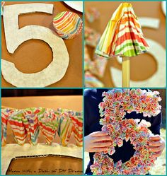 Easy and inexpensive Birthday decor using paper cupcake liners!