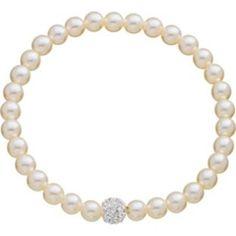 Beautifully elegant; Fresh Water Pearl Glitter Ball Bracelet from Argos.