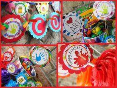 art party, art birthday, art parti, birthday parties, party supplies, birthday themes, 3rd birthday, parti idea, artist party