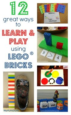 Know someone who loves Lego? This is a super collection of play and learning activities all using Lego bricks.