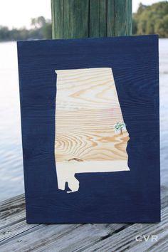 Attention Auburn University Alumni: you need this Alabama art with Toomer's Corner marked over the city of Auburn! #AU #alumni #Tigers