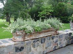 planter wall, herb, stone walls, garden beds