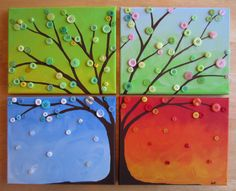 Four Seasons Button Tree- www.bustedbutton.com