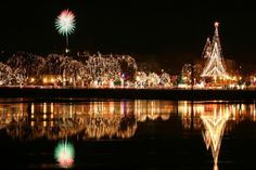 Rotary Lights in La Crosse WI is a beautiful place to visit during the holidays.