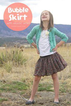 Make a Flouncy Bubble Skirt…with an elastic waist