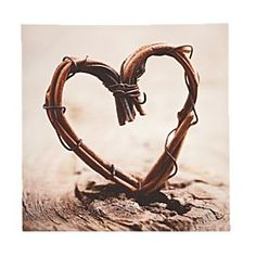 Rustic Bamboo Heart Canvas