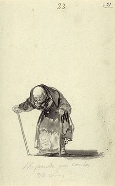 """He Can No Longer..."" by Francisco de Goya"
