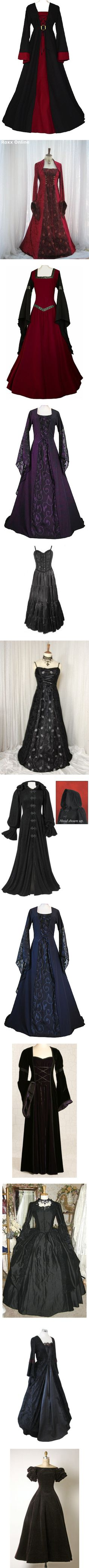 """""""Medevil & Old Fashioned Dresses & Gowns"""" by missspooky77 ❤ liked on Polyvore"""