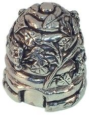 Beehive Pewter Pin Cusion.  Want it!