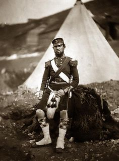 Captain Cunningham of the 42nd Royal Highland Regiment. Fought in the Crimean War and died of fever while in route back to Britain
