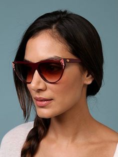 Stendhal Vintage Sunglasses With Stones