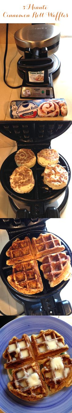 Easily make cinnamon roll waffles in 5 minutes!   http://rstyle.me/n/rg5cznyg6