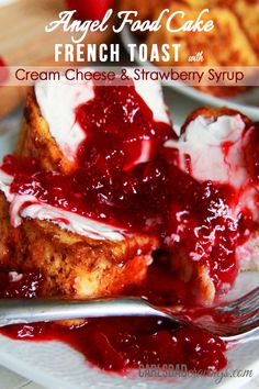 BEST FRENCH TOAST EVER - Angel food cake French toast dipped in cinnamon batter - the perfect texture of toasted on the outside, light, airy and slightly sweet cake heaven on the inside. | Carlsbad Cravings