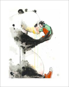Panda Girl Limited Edition Print by Lora Zombie