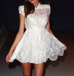 how pretty is this white dress...
