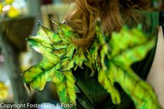 Leather Leaf Fairy Wings Faery Wings LARP Cosplay Halloween Costume Fair Festival Maple Leaf Wings GREEN