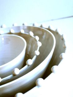 Handmade nesting bowls.
