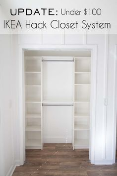 IKEA Hack DIY Closet System | UPDATE - Southern Revivals #ikeahack #closetorganization #closetsystem