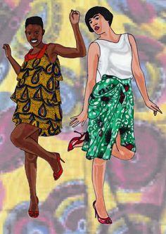 FASHION AFRICA ILLUSTRATIONS BY ANTONIA MAKES