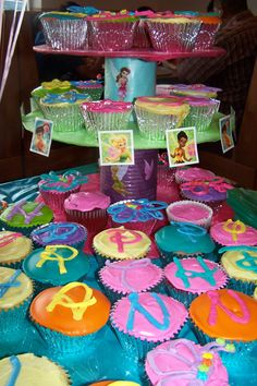 Our Tinkerbell party cupcakes