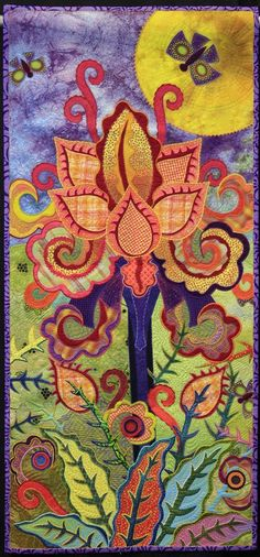 Fanciful Flora by Lois Podolny,  NQA 2013 Quilt Show Winner