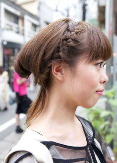 Japanese Girls Braided Hairstyle