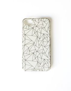 Christmas SALE White Geometric Phone Case. Whimsy by petekdesign, $22.00