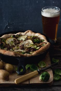 Brussels Sprout, Sausage, Apple and Roasted Potato Pizza