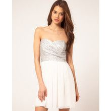 TFNC Dress with Sequin Bandeau & Chiffon Skirt
