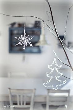 #white #christmas #decor #snowflake #tree