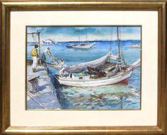 Boat Scene, Watercolor, James Milton Sessions ($5,000)