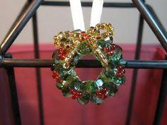 christma wreath, christmas wreaths, daili bead, bead christma, bead ornament, beads, jewelri, christmas trees, christma bead