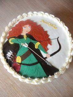 """Brave"" Merida cake"