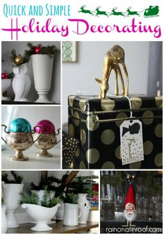 Need quick and simple holiday decorating? This Christmas home tour is filled with just that! via RainonaTinRoof.com