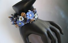 Moonlight Flowers Embroidered Cuff