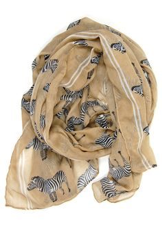Z for Zebra Scarf: Tan [PO-465] - $14.99 : Spotted Moth, Chic and sweet clothing and accessories for women