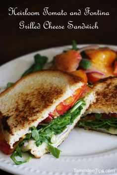 Heirloom Tomato and Fontina Grilled Cheese Sandwich #blueapronchefs
