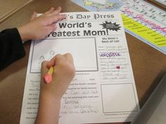 mothers day newspaper free templates for moms, grandmothers and aunts