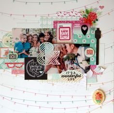 Picture Perfect - Scrapbook.com - Beautiful wedding layout!