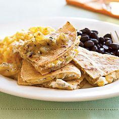 Goat Cheese and Roasted Corn Quesadillas | MyRecipes.com