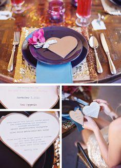 menú corazón para bodas