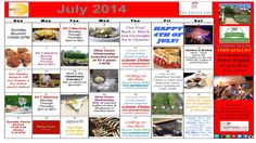 July 2014 Calendar of Events and Promotions
