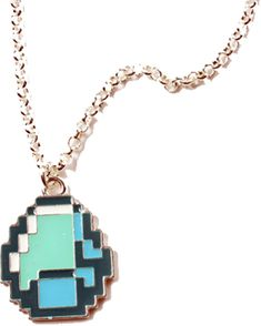 Minecraft Diamond Pendant Necklace | eBay