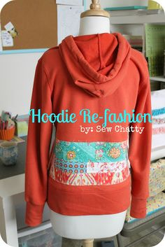refashioned hoodie - completely darling!