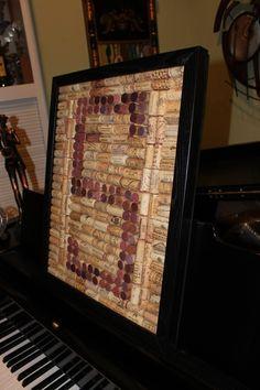 wine cork idea...and it's even the right letter!!