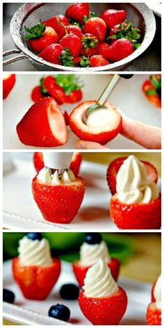 Cheesecake Stuffed Strawberries: Easy Summer Dessert Recipe - DIY  Crafts For Moms #dessert #recipes