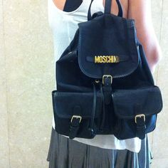 #black #vintage #moschino #backpack #womens #fashion #style
